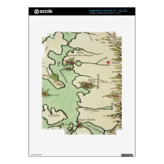 Map of Epirus for 'Andromache' by Jean Racine, fro iPad 3 Skins