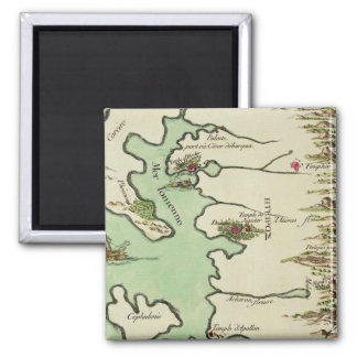 Map of Epirus for 'Andromache' by Jean Racine, fro 2 Inch Square Magnet