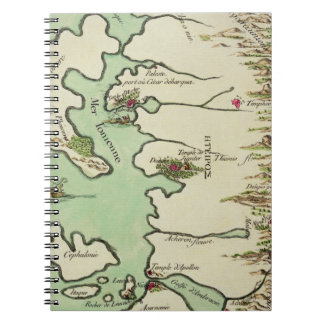 Map of Epirus for 'Andromache' by Jean Racine, fro Notebook