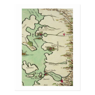 Map of Epirus for 'Andromache' by Jean Racine, fro Post Cards