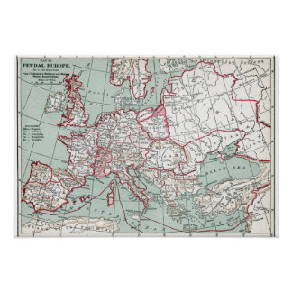 MAP OF EUROPE, 12th CENTURY Poster