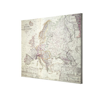 Map of Europe, 1841 Canvas Print
