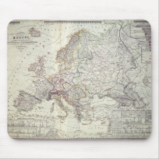 Map of Europe, 1841 Mouse Pad