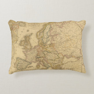 Map of Europe 2 Accent Pillow