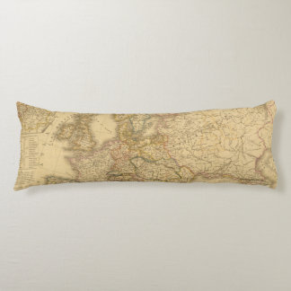 Map of Europe 2 Body Pillow