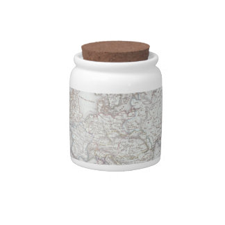 Map of Europe 2 Candy Jar