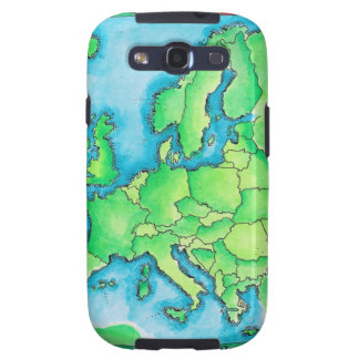 Map of Europe 2 Samsung Galaxy S3 Covers