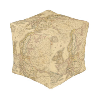 Map of Europe 2 Cube Pouf