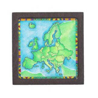 Map of Europe 2 Jewelry Box