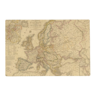 Map of Europe 2 Laminated Placemat