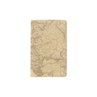 Map of Europe 2 Pocket Moleskine Notebook Cover With Notebook