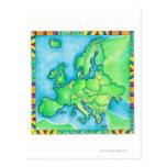 Map of Europe 2 Postcard