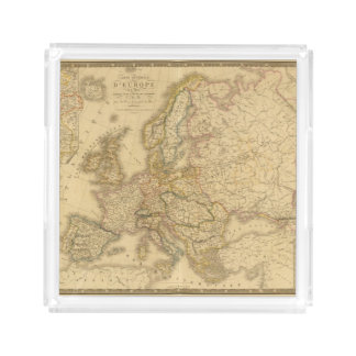 Map of Europe 2 Square Serving Trays