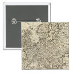Map of Europe 3 2 Inch Square Button