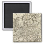 Map of Europe 3 2 Inch Square Magnet
