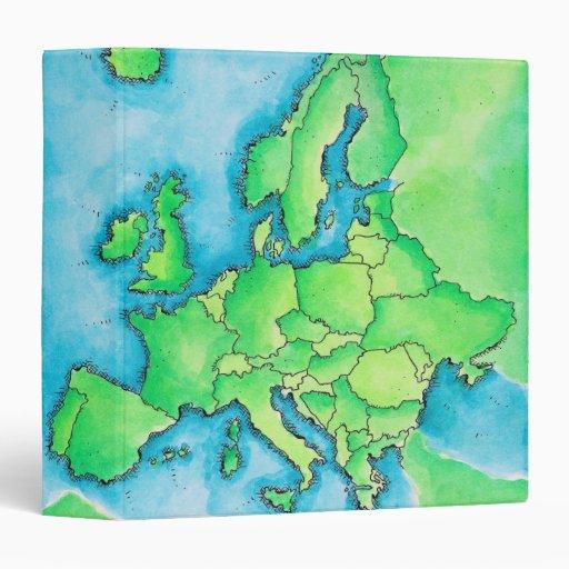 Map of Europe 3 Binder