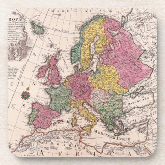 Map of Europe 3 Drink Coaster