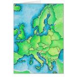 Map of Europe 3 Greeting Card