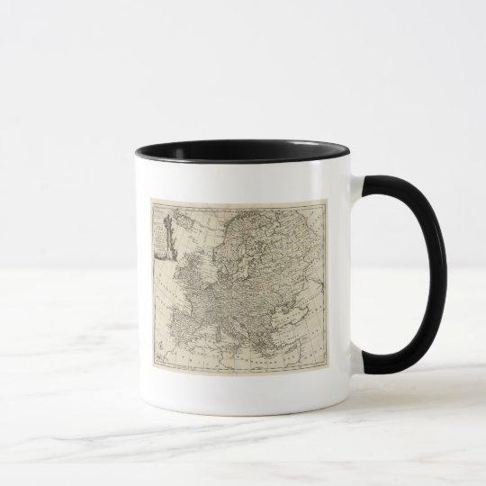 Map of Europe 3 Mug