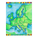 Map of Europe 3 Post Cards