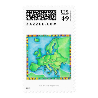 Map of Europe 3 Postage