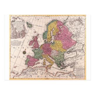 Map of Europe 3 Postcard