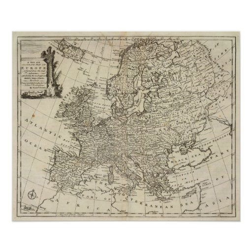 Map of Europe 3 Poster