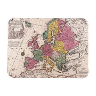 Map of Europe 3 Rectangle Magnets