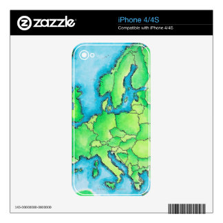Map of Europe 3 iPhone 4 Skins