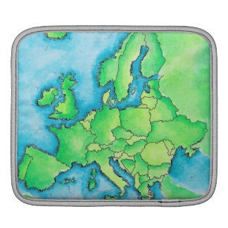 Map of Europe 3 Sleeve For iPads