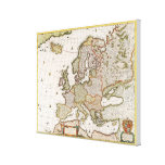 Map of Europe 4 Canvas Print