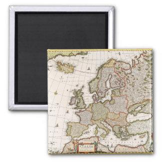 Map of Europe 4 Refrigerator Magnet