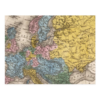 Map of Europe 4 Postcards