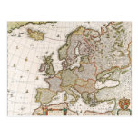 Map of Europe 4 Postcard
