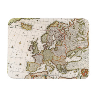 Map of Europe 4 Rectangle Magnets