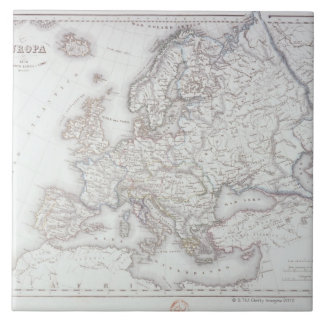 Map of Europe 5 Large Square Tile