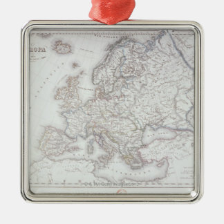 Map of Europe 5 Metal Ornament