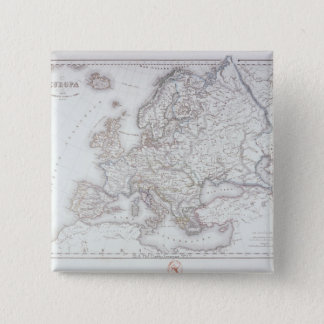 Map of Europe 5 Pinback Button