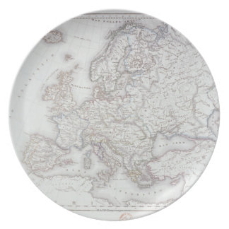Map of Europe 5 Dinner Plate
