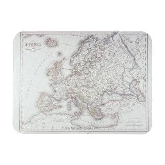 Map of Europe 5 Rectangular Photo Magnet