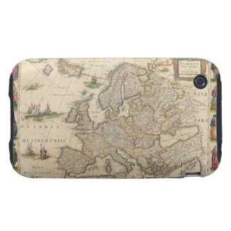 Map of Europe 6 Tough iPhone 3 Cover