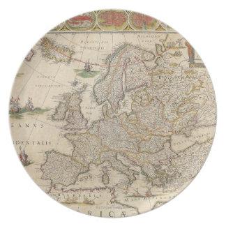 Map of Europe 6 Melamine Plate