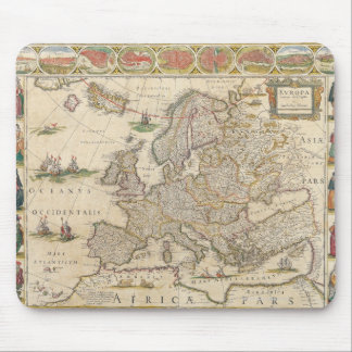 Map of Europe 6 Mousepad