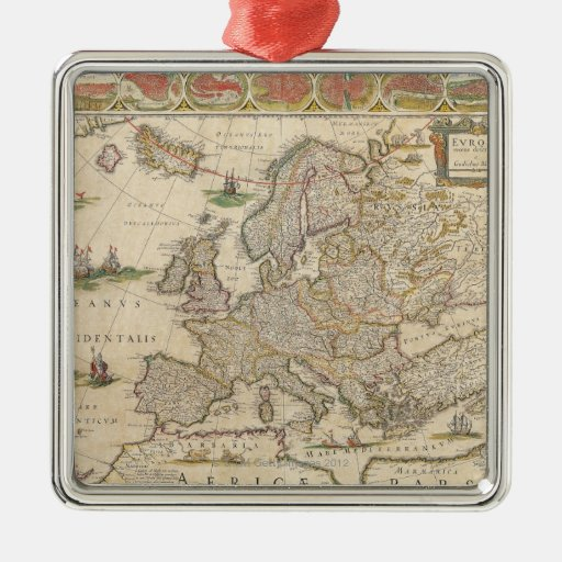 Map of Europe 6 Ornament