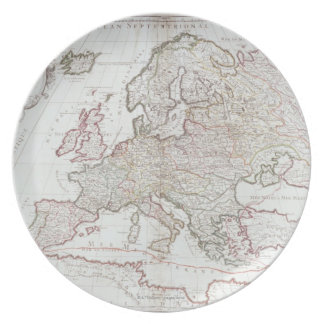Map of Europe 7 Dinner Plate