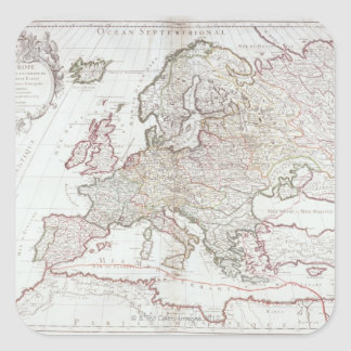 Map of Europe 7 Square Sticker