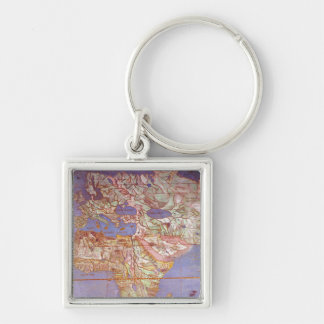 Map of Europe and Africa Keychain