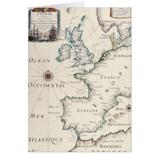 Map of Europe Card