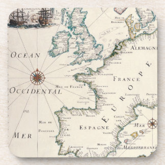 Map of Europe Drink Coaster