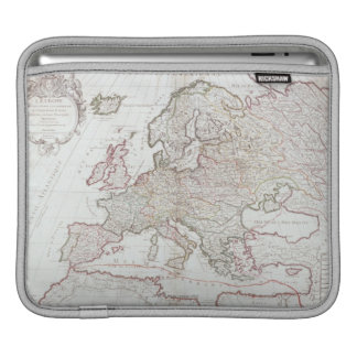 Map of Europe Sleeves For iPads